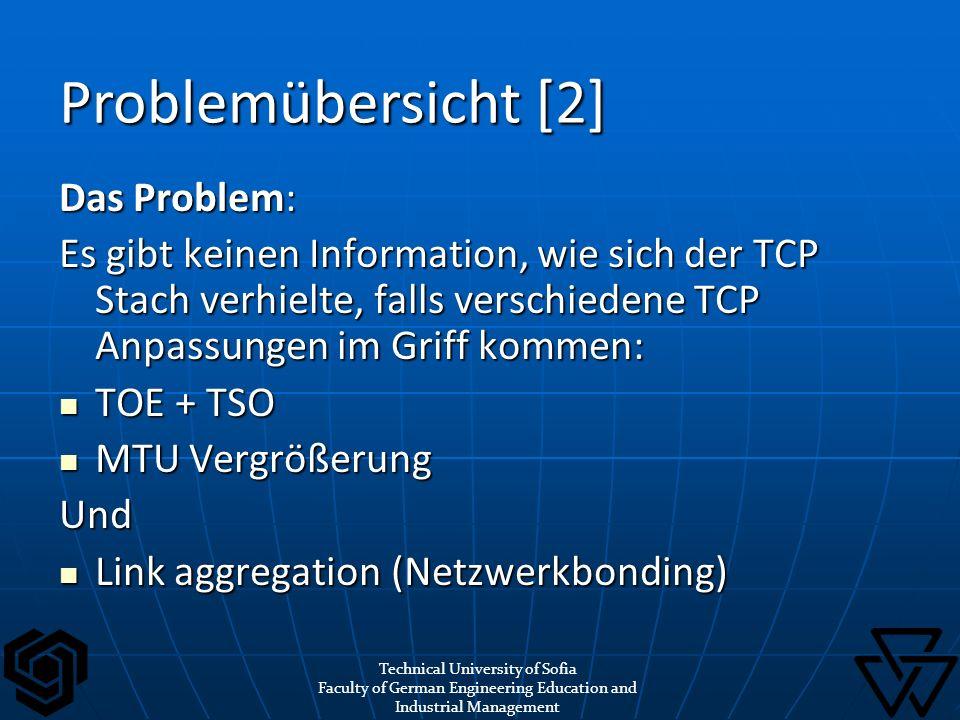 Problemübersicht [2] Das Problem: